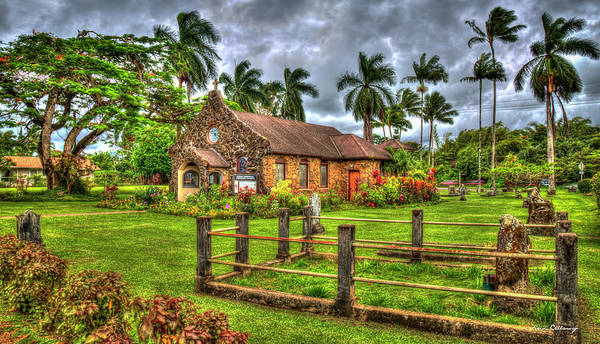 Photograph - Faithful One Christ Memorial Episcopal Church Kilauea Kauai Collection Art by Reid Callaway