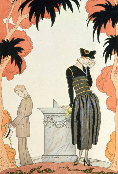 Elegant Drawing - Falbalas Et Fanfreluches by Georges Barbier