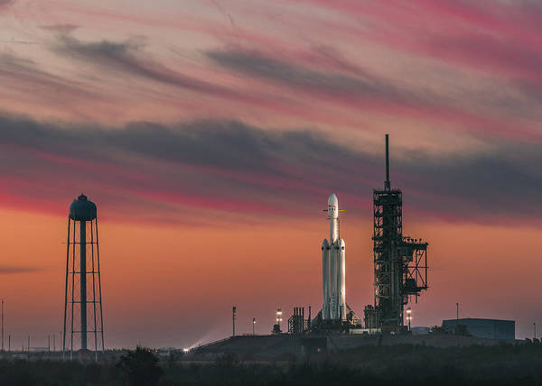 Wall Art - Photograph - Falcon Heavy Epic Sky by Filip Hellman