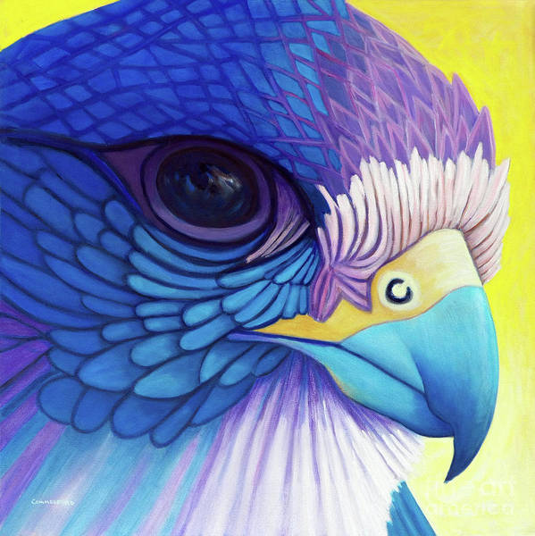 Wall Art - Painting - Falcon Medicine by Brian  Commerford