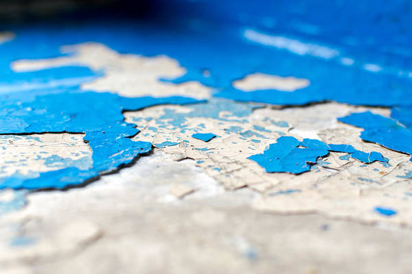 Photograph - Falking Blue Paint On Concrete by John Williams