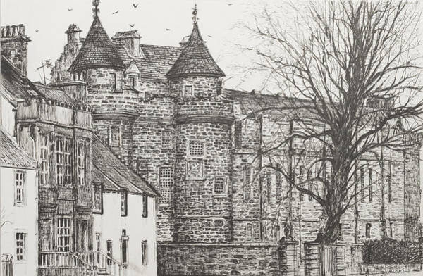 Bare Drawing - Falkland Palace by Vincent Alexander Booth