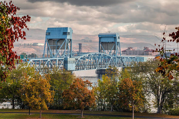 Lewiston Photograph - Fall 2015 Blue Bridge by Brad Stinson