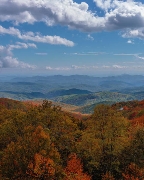 Photograph - Fall Along The Blue Ridges by Chris Coffee