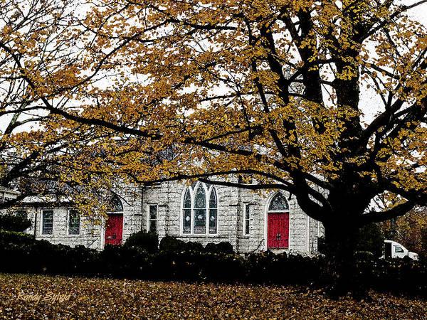 Photograph - Fall At Church by Randy Sylvia