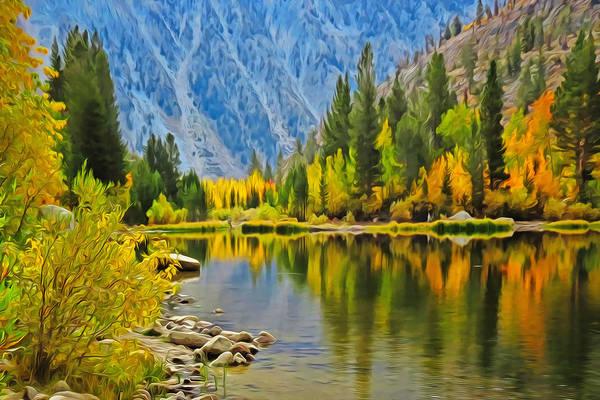 Mixed Media - Fall At North Lake by Frank Lee Hawkins