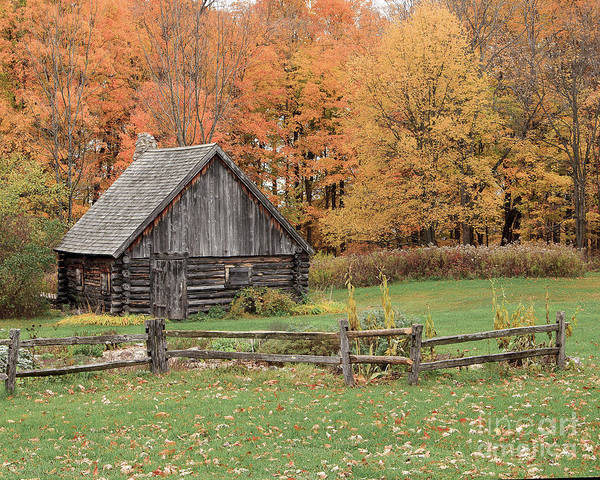 Photograph - Fall At The Log Cabin by Rod Best