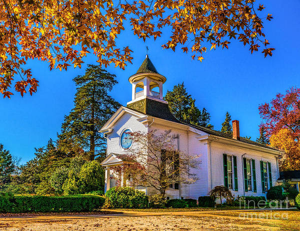 Photograph - Fall At Seaville Umc by Nick Zelinsky