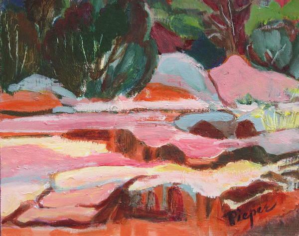 Oak Creek Canyon Painting - Fall At Slide Rock I by Betty Pieper