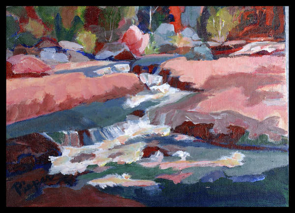 Oak Creek Canyon Painting - Fall At Slide Rock II by Betty Pieper