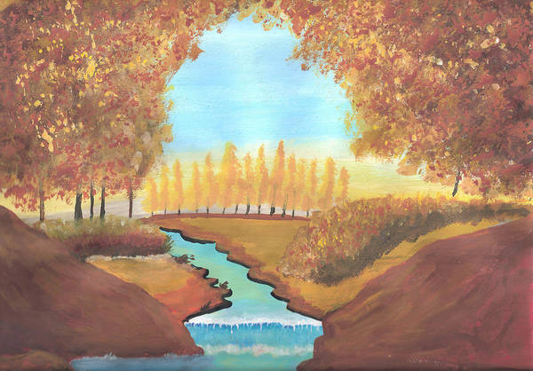 Acrilic Painting - Fall At The Meadows by Ricardo Gonzalez