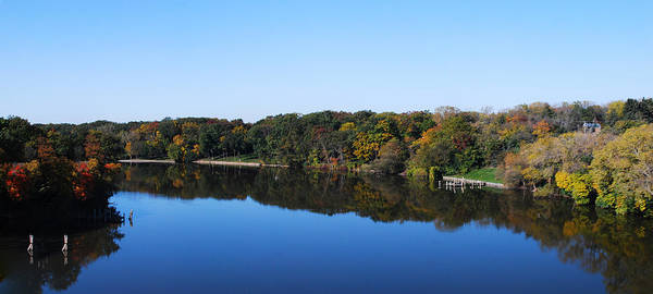 Photograph - Fall At The Riverbend Panoramic by Maggy Marsh