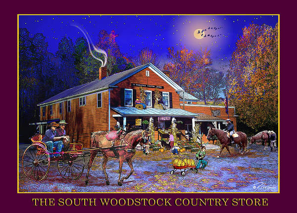 Photograph - Fall At The South Woodstock Country Store by Nancy Griswold