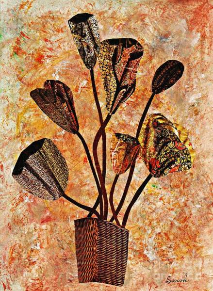 Bright Flowers Mixed Media - Fall Bouquet by Sarah Loft