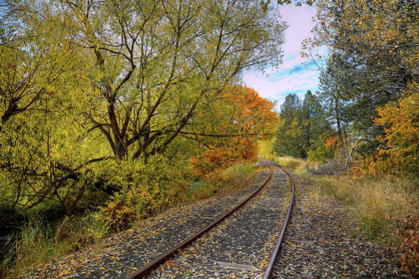 Photograph - Fall Color On The Tracks by David Patterson