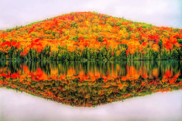 Painting - Fall Color Reflection On Stiles Pond by Dan Sproul