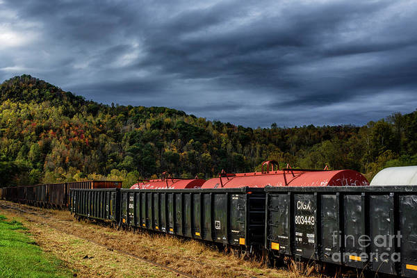 Photograph - Fall Color Stormy Sky by Thomas R Fletcher