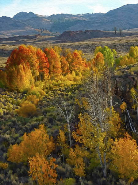 Painting - Fall Colors At Aspen Canyon by Frank Lee Hawkins