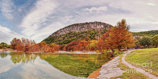 Bald Cypress Photograph - Fall Colors At Garner State Park - Frio River At Concan - Texas Hill Country by Silvio Ligutti