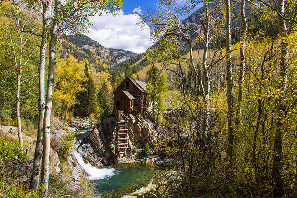 Photograph - Fall Colors At Historic Crystal Mill by Teri Virbickis