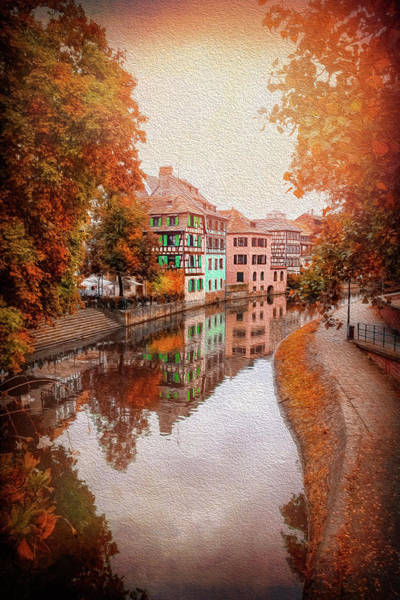 Alsace Wall Art - Photograph - Fall Colors In Strasbourg France by Carol Japp