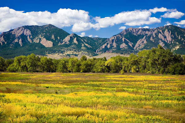 Fall Colors Of Boulder Colorado Art Print