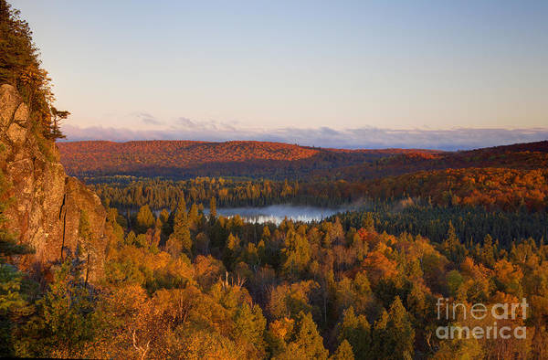 Lakeside Wall Art - Photograph - Fall Colors Orberg Mountain North Shore Minnesota by Wayne Moran
