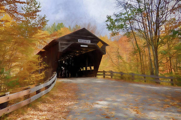 Photograph - Fall Colors Over The Durgin Covered Bridge by Jeff Folger