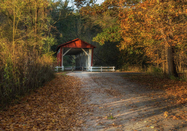 Photograph - Fall Covered Bridge by Dale Kincaid