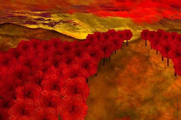 Digital Art - Fall Creek by Wally Boggus