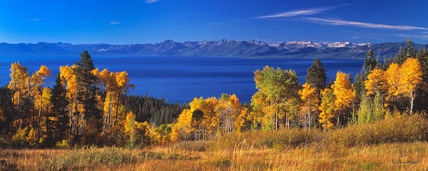 Wall Art - Photograph - Fall Day Above Lake Tahoe by Vance Fox