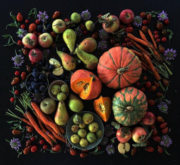 Fall Farmers' Market Art Print
