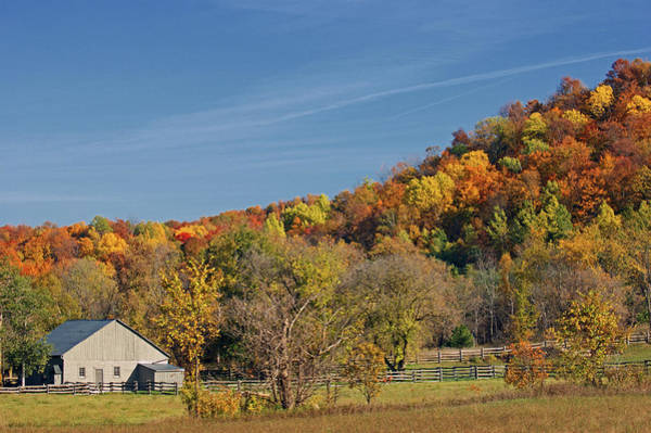 Hockley Valley Photograph - Fall Farmyard by Maria Keady