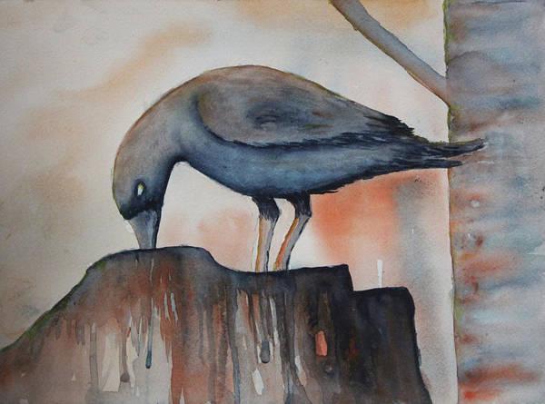 Painting - Fall Feeding by April Burton