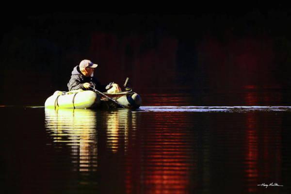 Photograph - Fall Fisherman by Harry Moulton