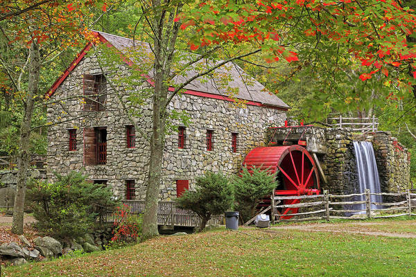 Photograph - Fall Foliage At The Sudbury Grist Mill by Juergen Roth