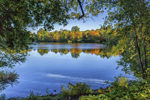 Photograph - Fall Foliage At Turners Pond In Milton Massachusetts by Brian MacLean