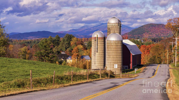 Waitsfield Photograph - Fall Foliage In Waitsfiield, Vermont. by New England Photography