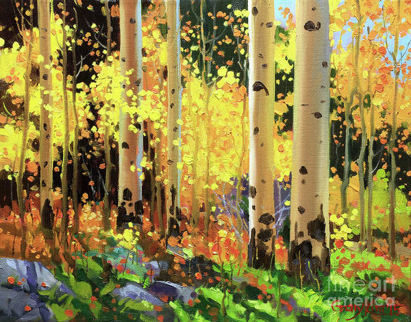 Fineart Painting - Fall Forest Symphony I by Gary Kim