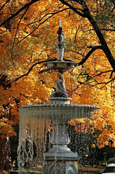 Wall Art - Photograph - Fall Fountain Colors by Martin Morehead