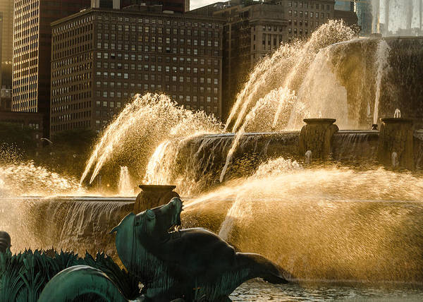 Photograph - Fall Fountain by Tom Potter