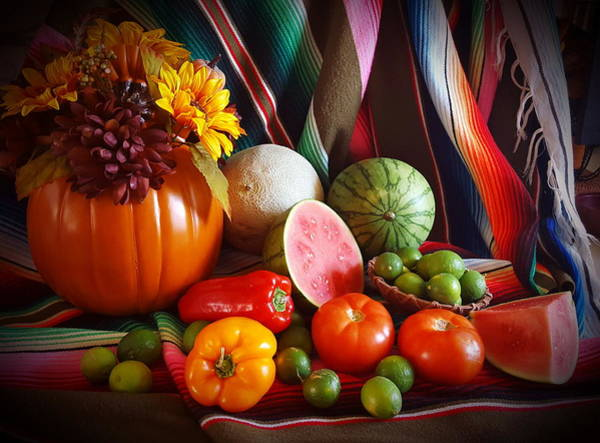 Painting - Fall Harvest Still Life by Marilyn Smith