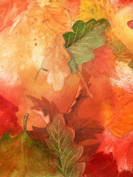 Fall Wall Art - Painting - Fall Impressions V by Irina Sztukowski