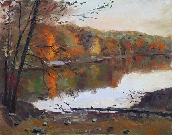 Mountain Lake Painting - Fall In 7 Lakes by Ylli Haruni