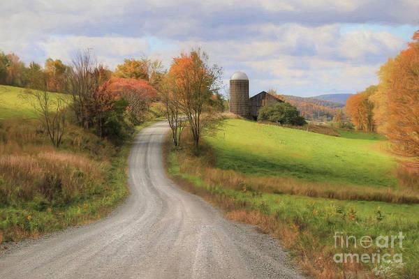 Gold Leaves Digital Art - Fall In Rural Pennsylvania by Lori Deiter