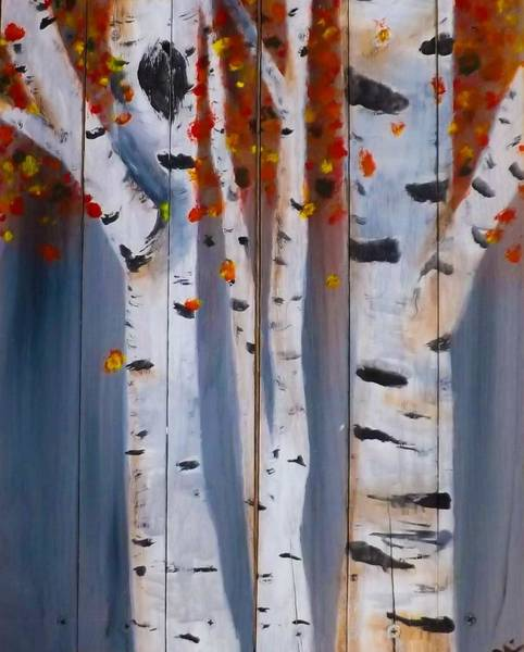 Wall Art - Painting - Fall In The Birch Woods by Jennifer Turner