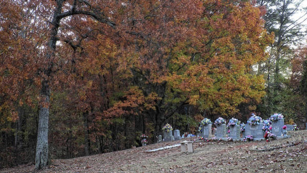 Photograph - Fall In The Cemetery by George Taylor