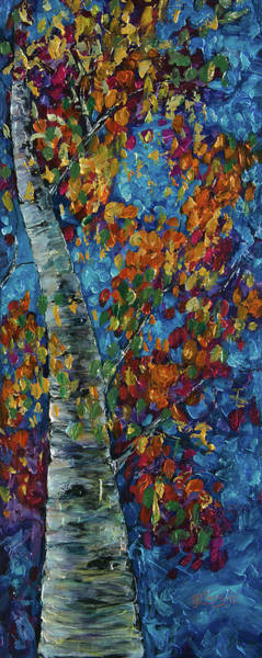 Painting - Fall In The Rockies by OLena Art - Lena Owens