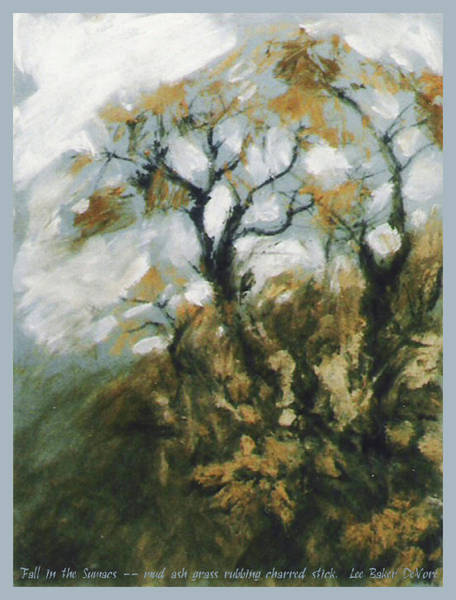 Wall Art - Mixed Media - Fall In The Sumacs by Lee Baker DeVore