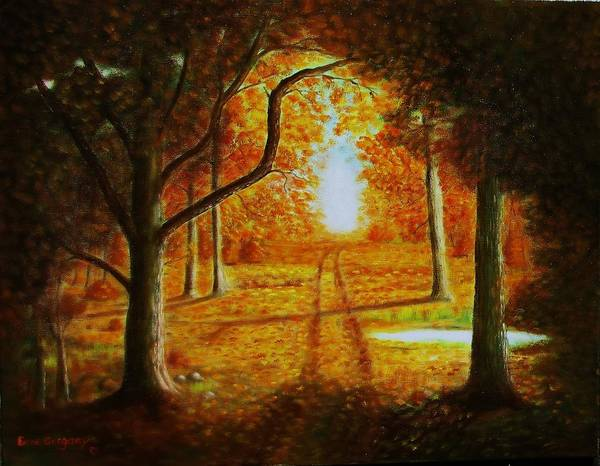 Painting - Fall In The Woods by Gene Gregory